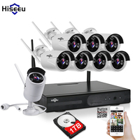 8CH CCTV System WI FI 720P 1T 2T 3T HDD Optional Wireless NVR Night Vision IP
