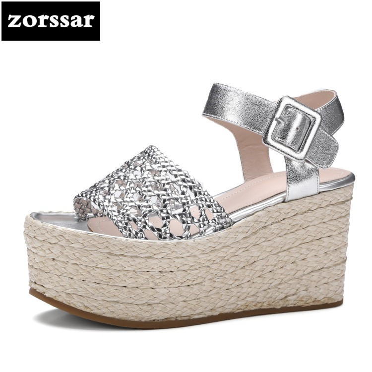 {Zorssar} 2018 New Women Sandals heels Summer Ladies Shoes Open Toe Fashion hemp rope Platform Wedges Sandals High Heels основы механики материалов учебное пособие