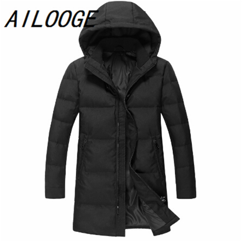 New Brand Russia Winter Men Casual 90%White Duck Down Jacket Mens Down Jackets And Coats Warm Jackets Down Overcoat