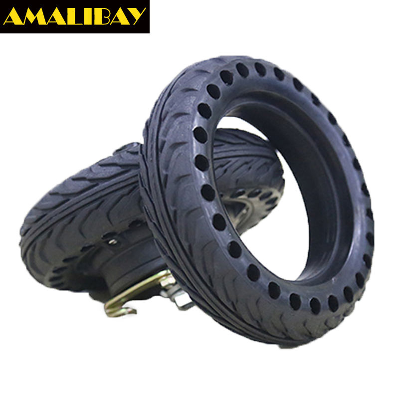 """Amalibay 8 inch Scooter Solid Tire 200*50 Non-Pneumatic Tyre Reinforcing Rib Damping Tyre for 8"""" Electric Skateboard Skate Board"""
