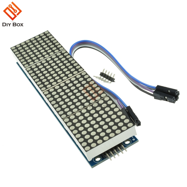 MAX7219 Microcontroller 4 In 1 Display met 5 P Lijn Dot Matrix Module voor Arduino