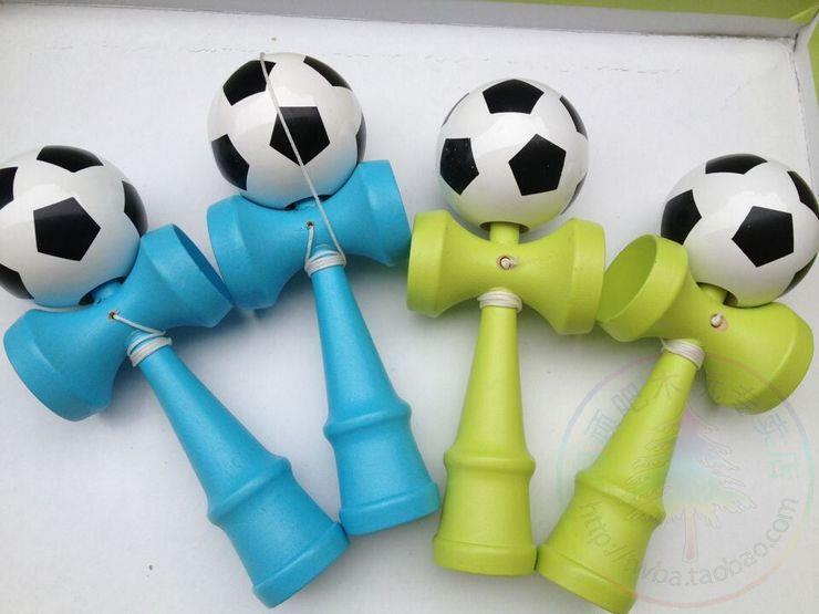70 шт./лот FEDEX DHL Размеры: 18.5 см японская традиционная игра Kendama Футбол красочны ...