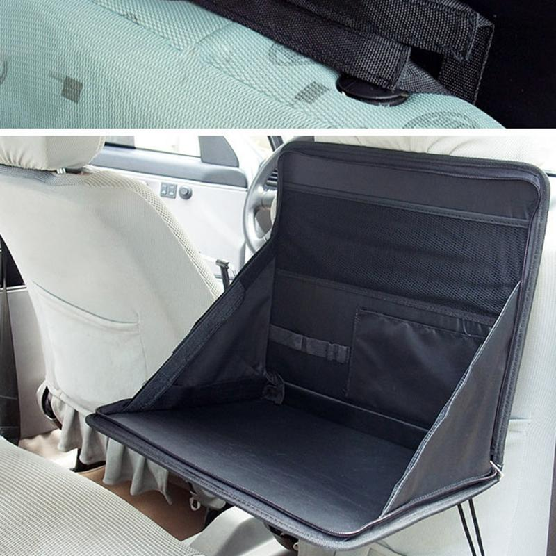 Portable Car Seat Table for Laptop Holder, Food, Storage