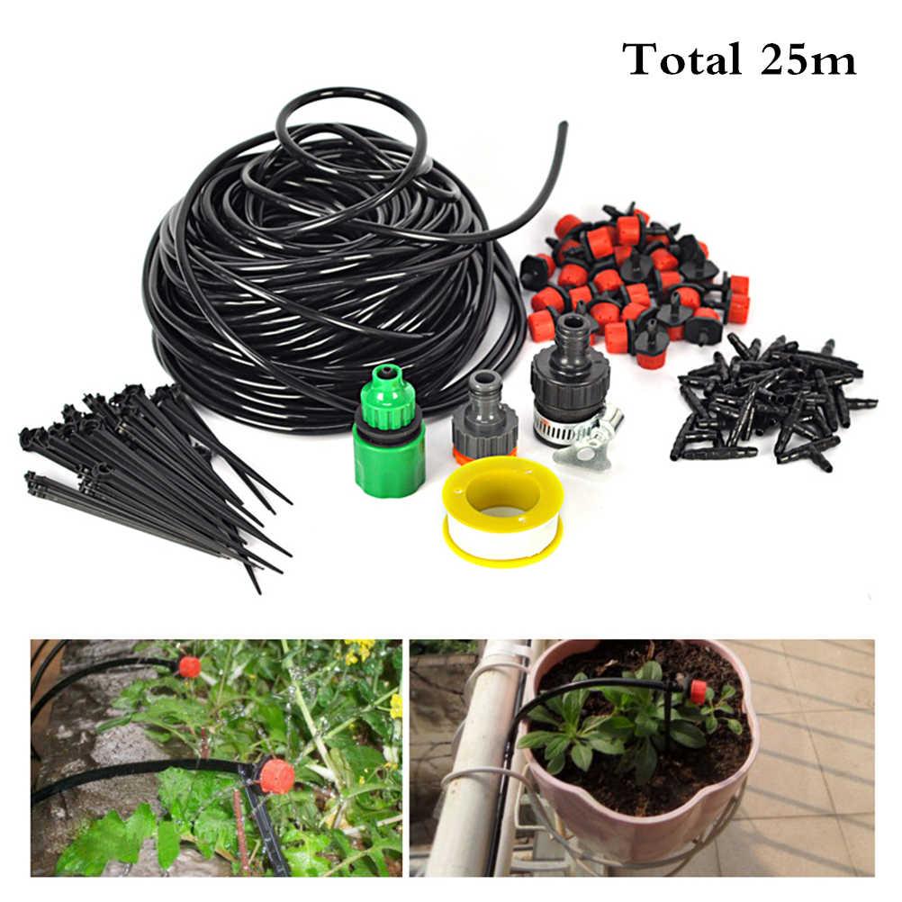 BESTOYARD 25 м сад капельный полив системы 30-капельница полива растений системы DIY для сада пейзаж цветок кровать Патио растения