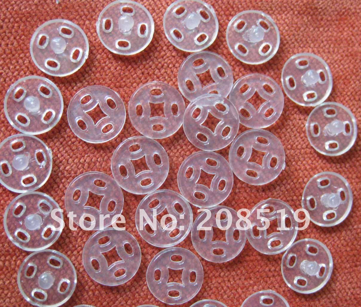 NB0063 500 наборы 10 мм Прозрачные заклепки для одежды Швейные принадлежности