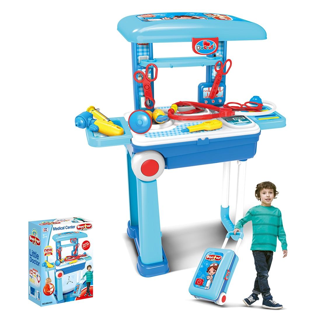 Enfants jouets drôles docteur jouer ensembles Simulation boîte à médicaments Pretent docteur jouets stéthoscope Injections avec organisateur de bagages nouveau