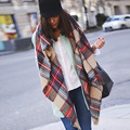 Fashion Autumn Winter Luxury Brand Plaid Cashmere Scarf Women Oversized Blanket Scarf Wrap Long Scarf Women Shawls Scarves