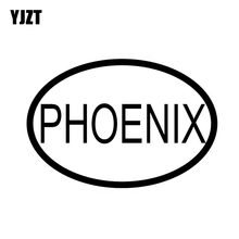 YJZT 13.3CM*9.1CM CAR STICKER VINYL DECAL PHOENIX CITY COUNTRY CODE OVAL Black Silver C10-01329(China)