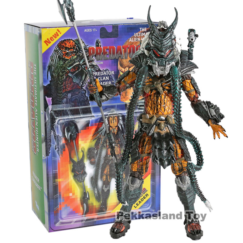 NECA Predator Kenner Leader Clan chief Action Figure Collection Model Toy Christmas Gifts