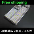 Drop price ! PF0.9  lampara g24 led g24d 1 2 2835 SMD LED PL in down Light Bulb Lamp Lighting 85~265V Free shipping