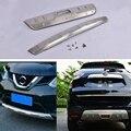 Защита переднего и заднего бампера из нержавеющей стали противоскользящая пластина Накладка для Nissan X Trail Rogue X-Trail 2014-2016