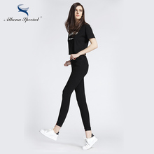 Athena Special New Arrival Women Pencil Pants High Elastic Female Tight Skinny Pant 2017 Women Capris Trousers High Quality