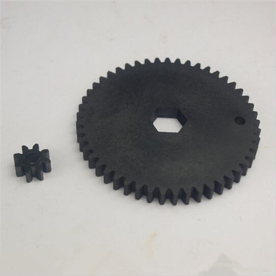 US $9 49 5% OFF|Ultimaker original 3D printer extruder parts plastic nylon  Injection molding feeder small gear +feeder big gear black wheel kit-in 3D