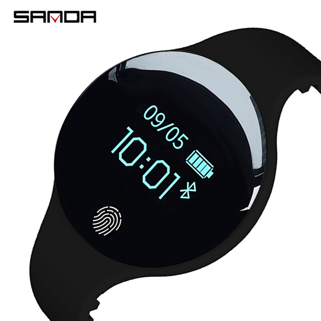 SANDA Bluetooth Smart Watch for IOS Android Men Women Sport Intelligent Pedomete