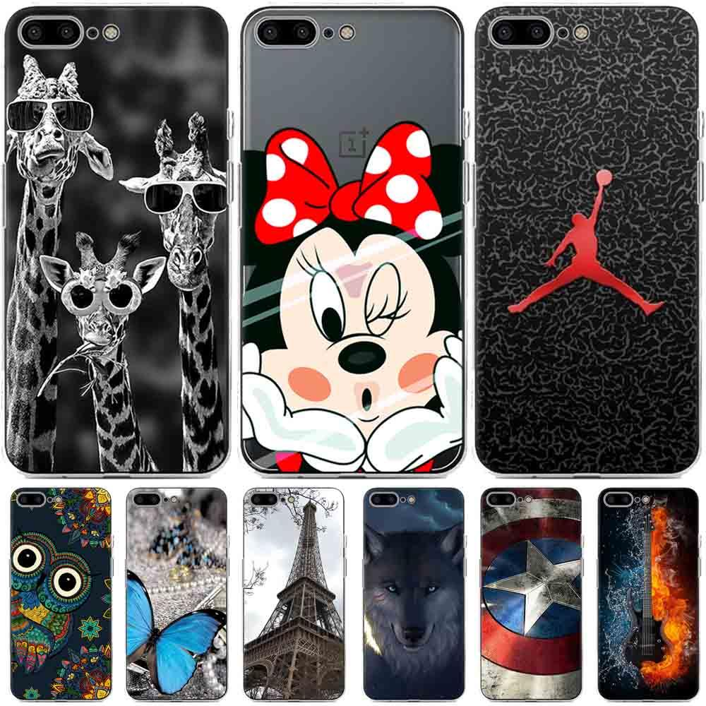 Oneplus 5 case silicone cover Cool DIY Cartoon painting soft tpu case for Oneplus 5 A5000 cover funda 5.5