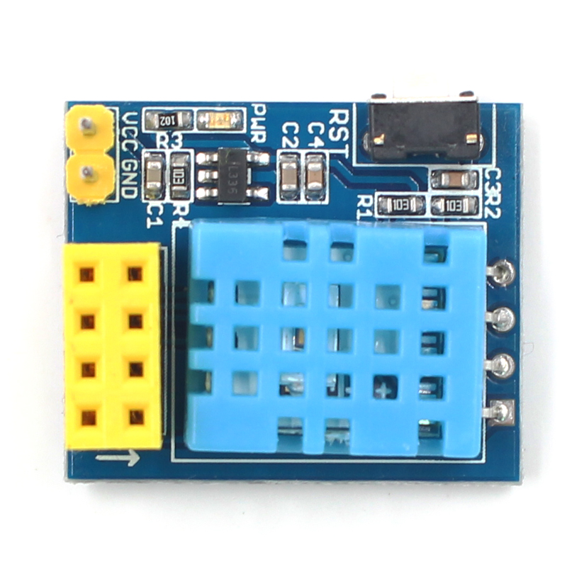 ESP8266 ESP-01 ESP-01S DHT11 Temperature Humidity Sensor Module esp8266 Wifi NodeMCU Smart Home IOT DIY Kit (without ESP module) 5pcs graded version esp 01 esp8266 serial wifi wireless module wireless transceiver
