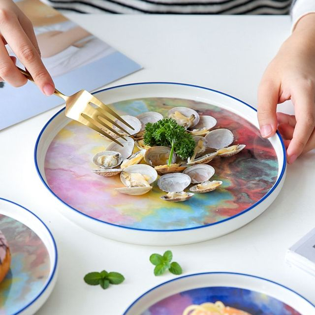 7 or 9 or 11 5 inch Watercolor painting dinner plate Wholesale Unique hand paint Dinnerware.jpg 640x640 - tabletop-and-bar, dinnerware - Renoir Collection Plates