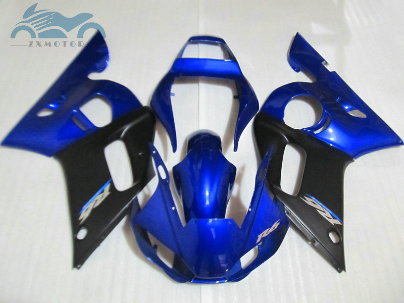 Free Customized motorcycle fairing <font><b>kits</b></font> for <font><b>YAMAHA</b></font> <font><b>R6</b></font> YZFR6 1998 1999 2002 YZF <font><b>R6</b></font> 98 99 00 02 blue black fairings <font><b>body</b></font> <font><b>kits</b></font> EB28 image