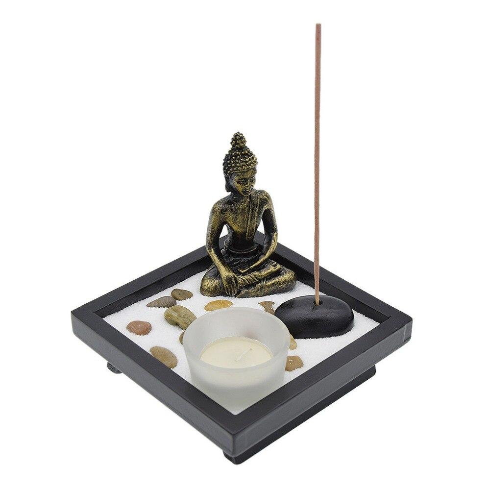 Lychee Zen Garden Garten Sand Buddha Rocks Tealight Incense Holder Feng Shui Base Home Decoration In Burners From On