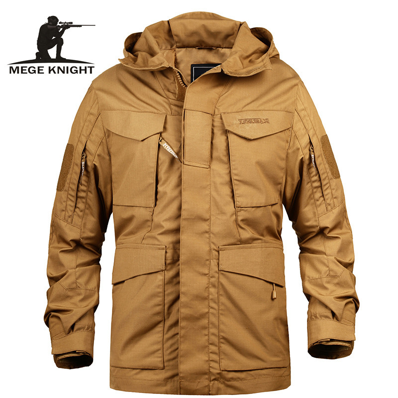 Mege Brand Men Tactical Clothing US Army M65 Military Field Jacket Trench Coats Hoodie Casaco Masculino