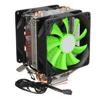 Brand New Dual Fans Hydraulic Cooling Heatpipe Heatsink Radiator For Intel LGA775 1156 1155 AMD AM2