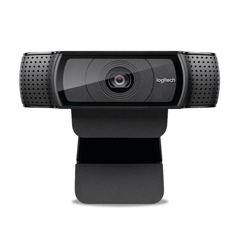 Cámara web Logitech HD Pro C920e, llamada y grabación de vídeo panorámica, cámara 1080 p, ordenador portátil o de escritorio Webcam C920 versión de actualización - 2