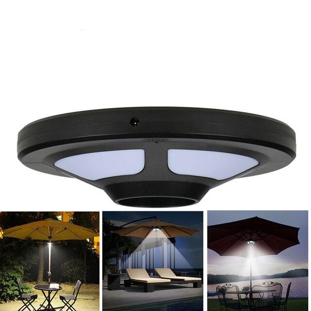 Patio Solar Umbrella LED Garden Lighting Umbrella Style Pole Lighting  Camping Tents Outdoor Use Parasol Lamp