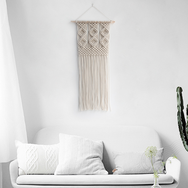 Handmade Macrame Wall Hanging Home Art Decor Bohemian Apartment Dorm  Living Room Bedroom Nursery Craft In Tapestry From Garden