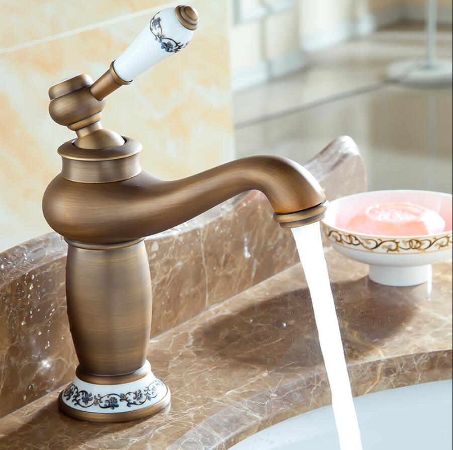 Basin Faucet Antique bronze Wash basin Faucet Luxury Bathroom Basin Taps Single Handle Vanity Single Hole Mixer Water TapsBasin Faucet Antique bronze Wash basin Faucet Luxury Bathroom Basin Taps Single Handle Vanity Single Hole Mixer Water Taps