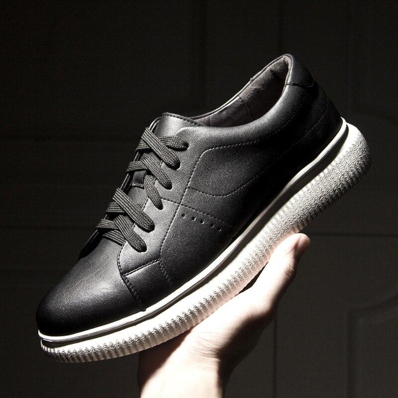 Black Alta Da Homens De Genuíno white Moda Marca Confortáveis Primavera Mpx8116288 Sapatos Qualidade Couro nAwY7zq