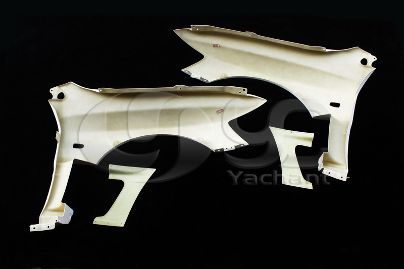 2001-2007 Mitsubishi Lancer Evolution 7-9 Varis Style Front Fender with Side Air Panel FRP (10)