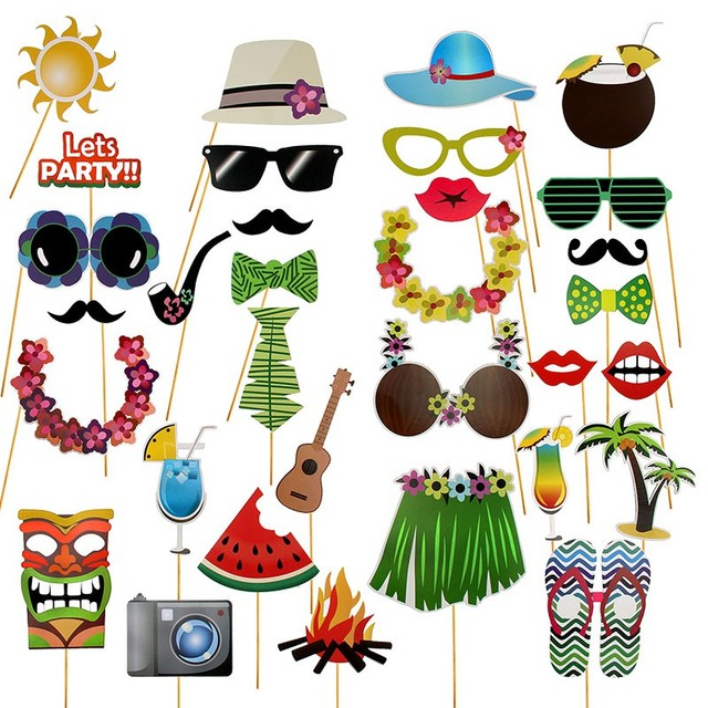 Hawaiian Party Photo Props Funny Party Seatail Dress Indigenous Hawaii  Party Beach Bachelorette Decoration Photobooth