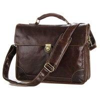 Ноутбук Бизнес Дорожные сумки 100% Пояса из натуральной кожи Для мужчин сумка Мода Теплые Tote Crossbody Мужские Портфели Сумки