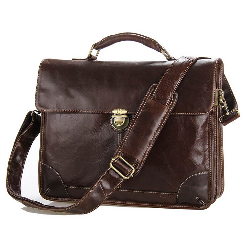 Laptop Business Travel Bags 100% Genuine Leather Men Bag Shoulder Bag Fashion Cowhide Tote Crossbody Briefcases Handbags