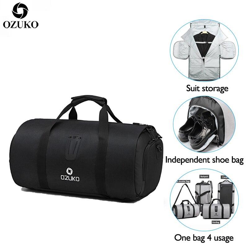 OZUKO New Large Capacity Travel Bag Multifunction Waterproof Duffle Bag for Trip Suit Storage Hand Luggage