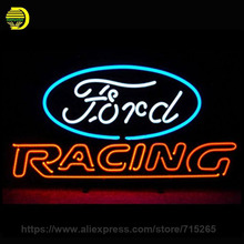 ord American Auto Racing Neon Sign Decorate Glass Tube Car Neon Bulb Recreation Room Indoor Frame Sign Store Wall Displays 24×20