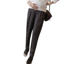 63ba38b545a4b1 Pengpious 2019 pregnant woman's abdomen Loose harem pants autumn high waist maternity  slacks good quality cotton belly trousers