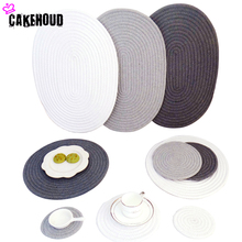 Soft Warm Cotton Thread Thicker Hand Made Cloth Spiral Colorful Insulation Pads Potholder Placemat Coaster Table Mat