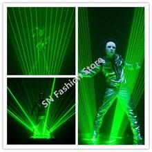 HH06 Green laser lightprojector 5W  ballroom dance costumes laser show dj disco laser man projector dmx  wears party props