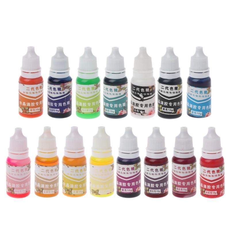 10ML Epoxy Resin Pigment UV Resin Coloring Dye Colorant Resin Pigment DIY Handmade Crafts Art Sets 15 Colors