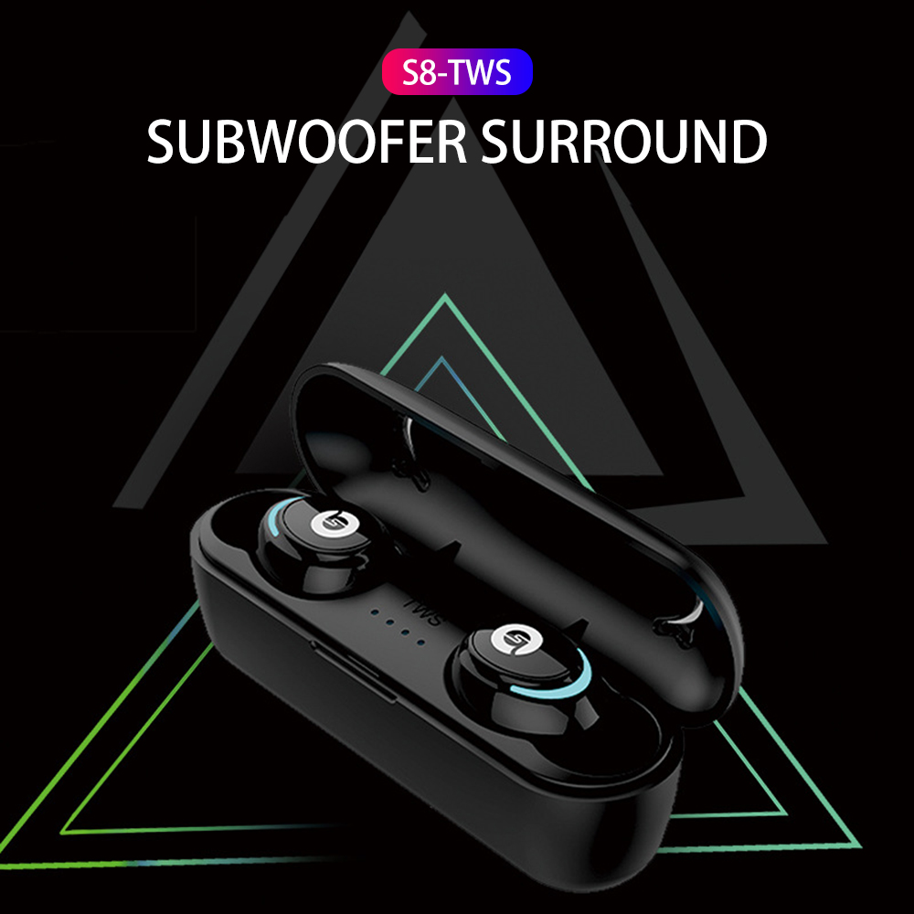 Auricular TWS S8 Bluetooth Earphone Wireless Earbuds Mini In Ear Handsfree Earphones Sports Earbuds Music Gaming Headset HD