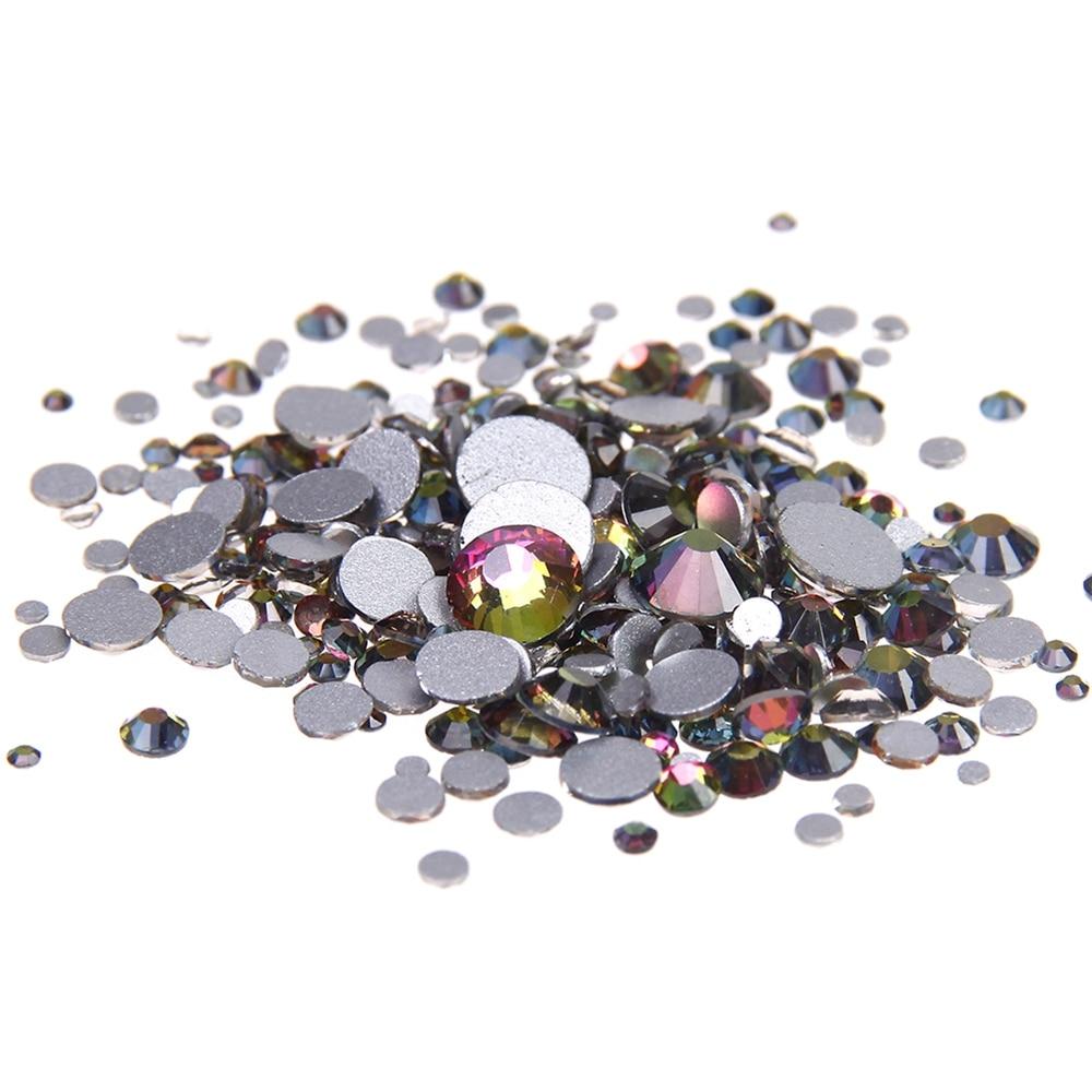 Glitter Strass Glass Rhinestones Rainbow Non Hotfix ss3-ss34s