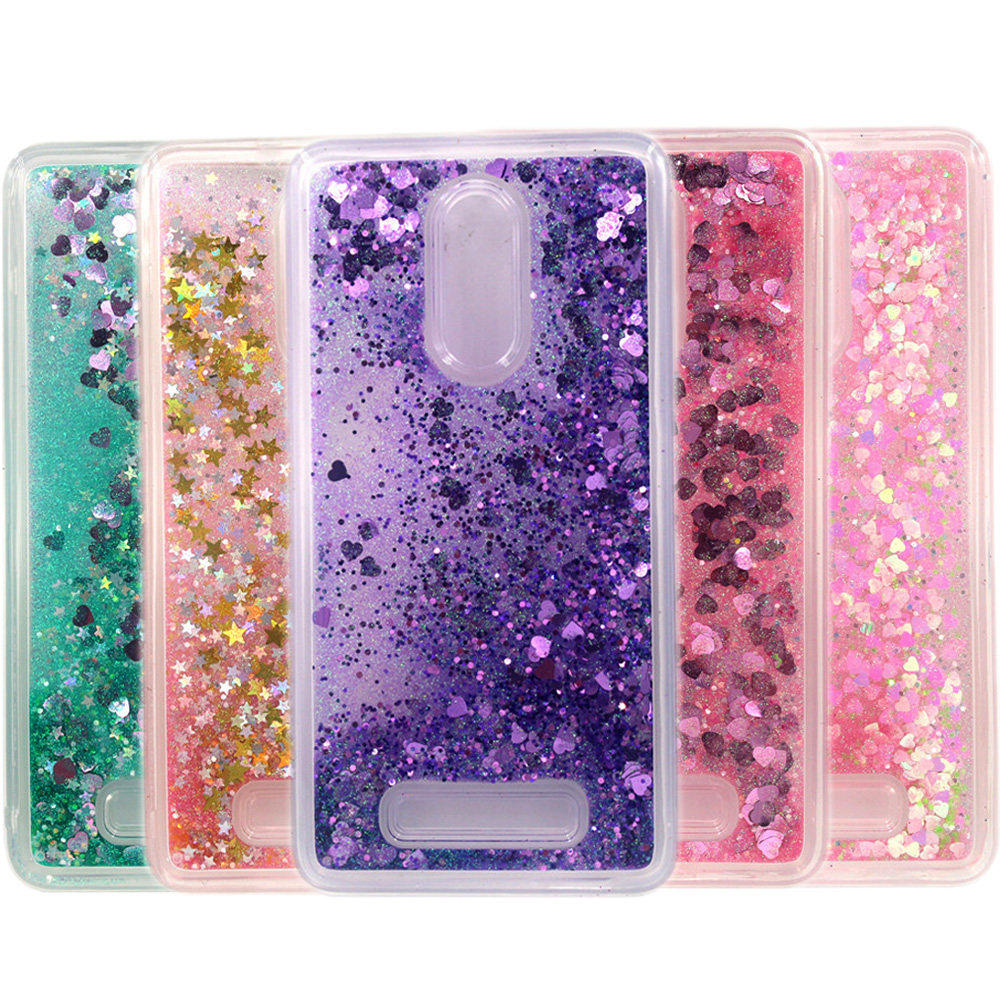 TPU Case For Xiaomi Redmi Note 3/Note 4/Redmi 4/Xiaomi MI 5/Xiaomi 5S Dynamic Flowing liquid Glitter Quicksand Star Back Cover