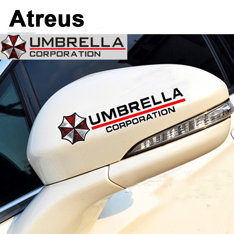 Atreus 2018 Resident Evil Car Reflective Rear Mirror Sticker Decal For Nissan qashqai Citroen c4 c5 Chevrolet cruze aveo Peugeot