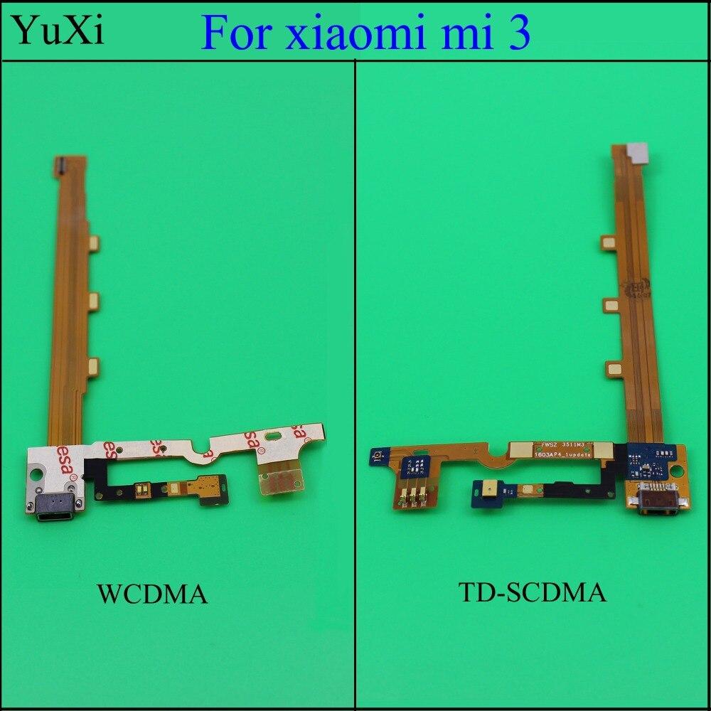 YuXi 1PCS For Xiaomi Mi3 Mi 3 M3 Replacement Parts USB Dock Charging Port + Mic Microphone Module Board Ribbon Flex Cable