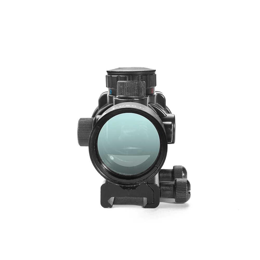 LUGER 3,5x30 rojo verde azul miras de caza mira óptica táctica mira telescópica con 20mm montaje de riel para pistola de aire de Airsoft Rifle Scope