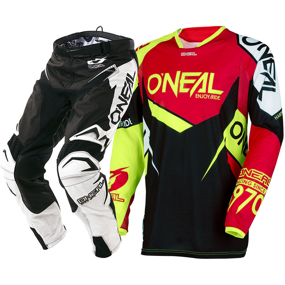2018 NEW Protective Gears MX Hardwear Flow-True Red Hi-Viz Jersey Pants Motocross Motorcycle Gear Set mountain hardwear куртка утепленная мужская mountain hardwear superconductor