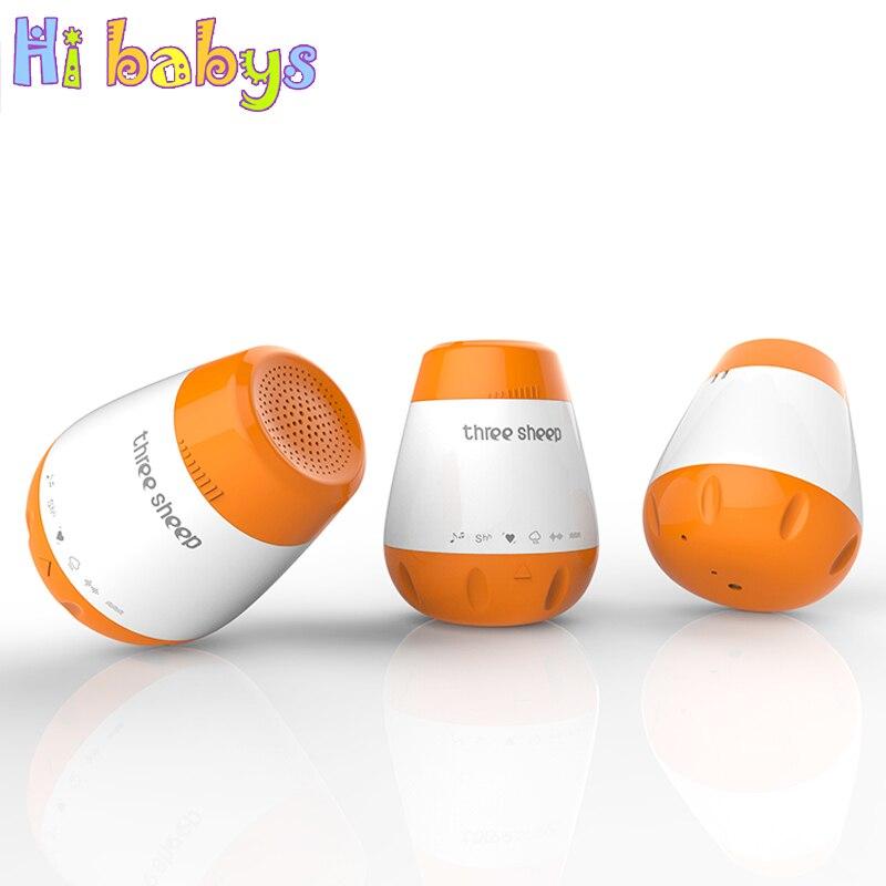 Baby Therapie Sound Maschine Weiß Noise Tragbare Schlaf Schnuller Maschine Rekord Stimme Sensor Beruhigende Musik Schlaf Therapie Regler