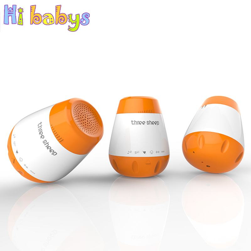 Baby Therapy Sound Machine White Noise Portable Sleep Soother Machine Record Voice Sensor Soothing Music Sleep Therapy Regulator hydra b5 soother 50ml soothing enhancer