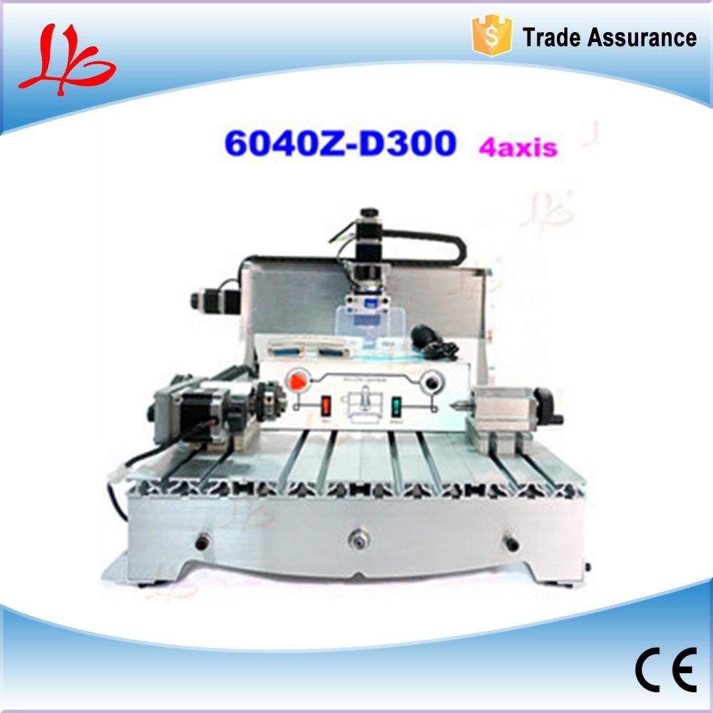 4 axis CNC Router 6040z-d300  Engraving machine cnc milling machine cnc 5axis a aixs rotary axis t chuck type for cnc router cnc milling machine best quality